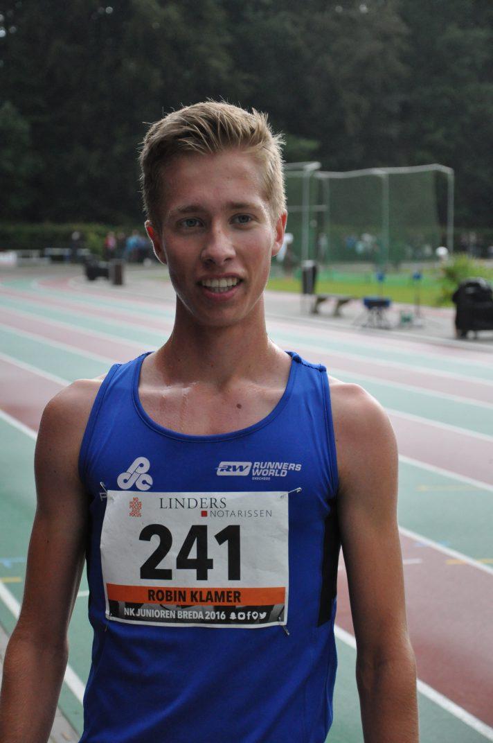 Robin Klamer op NK junioren 3000 meter 2016 (5)