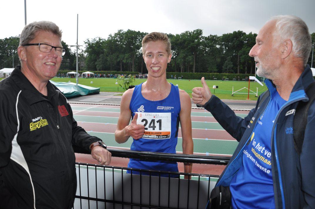 Robin Klamer op NK junioren 3000 meter 2016 (6)